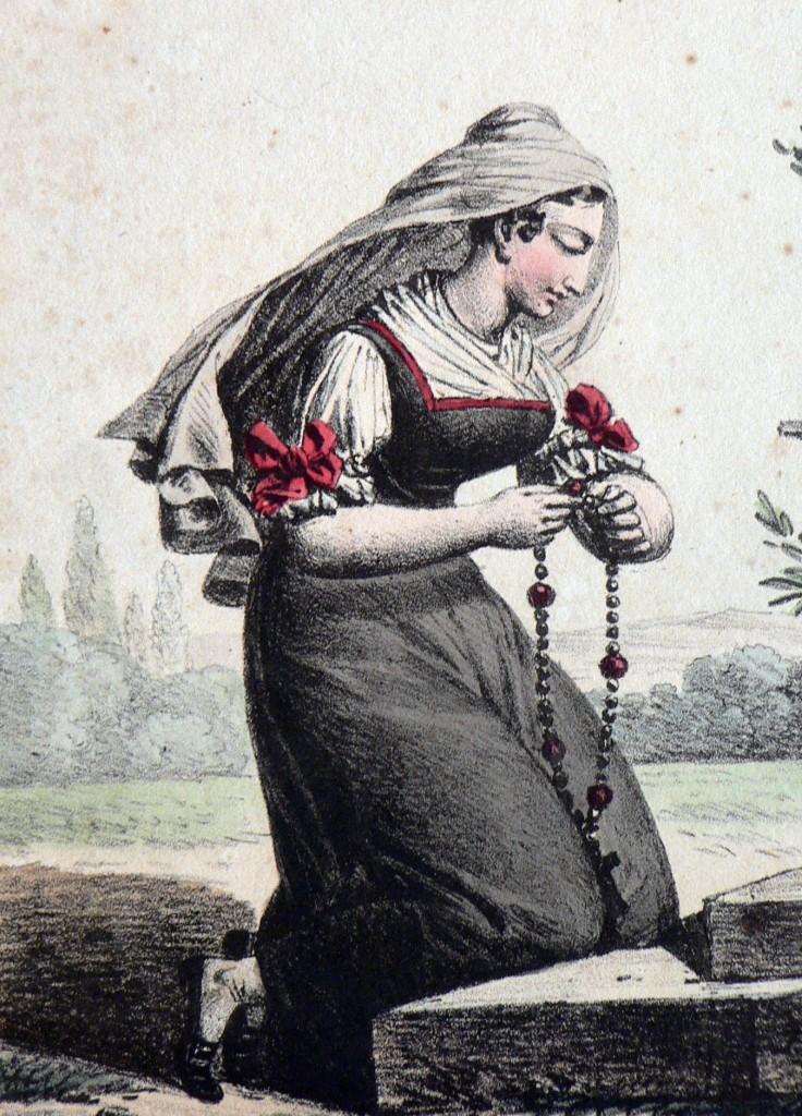 Catalane, gravure, vers 1810.