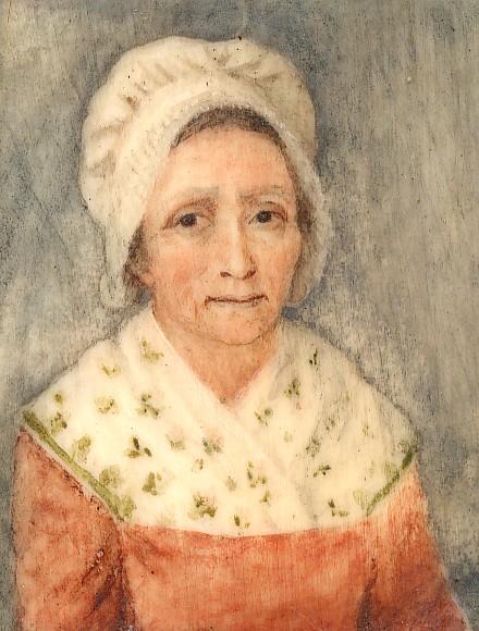 Portrait de femme en coiffe catalane, miniature, vers 1800