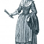 Gravure: menestrale ou femme d'artisan de Perpignan, 1788, Carrere