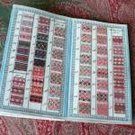 Carnet d'échantillons d'un marchand de tissus, vers 1845, coll. part.