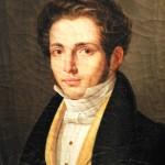 Huile sur toile, portrait de jeune homme vers 1815.