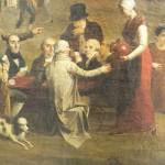 Le groupe des notables avec au centre jean Delhom Ripoll, maire de Perpignan.