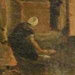 Femme à la fontaine, lavandière.