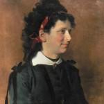 Portrait de jeune femme à la broche