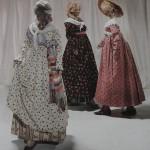 Costumes féminins de l'extrème fin du XVIIIe s., MNY.