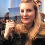 Fanny Agnier à l'exposition David Bielander, Scmuck Munich 2011.
