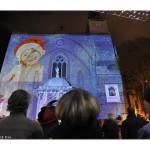 l'une des projections d'images des fetes de Noel 2009
