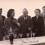 Pau Casals et à droite les époux Calvet