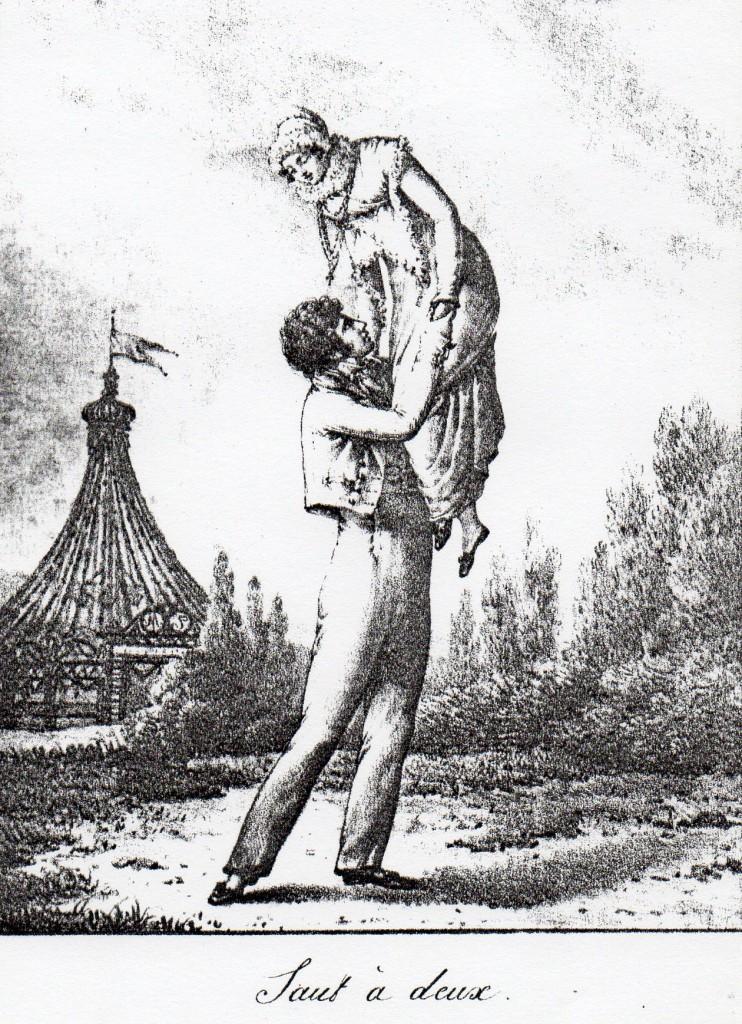 Danse du Roussillon, le saut à deux, vers 1819.