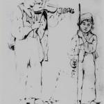 Violoneux et enfant mendiant, Vallespir, 1848.