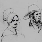 Portrait d'homme et de femme du Roussillon, 1848.