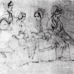 Les spectatrices du bal, Roussillon, Maureillas, 1848.