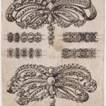 Gravure de la fin du XVIIe s, noeuds à la Sévigné