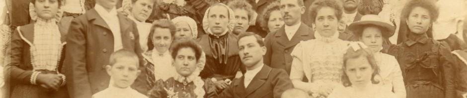 Photographie de mariage, vers 1900, Pyrénées-Orientales