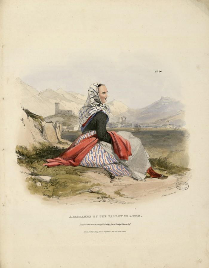 Costume de la haute vallée de l'Aude, 1830.