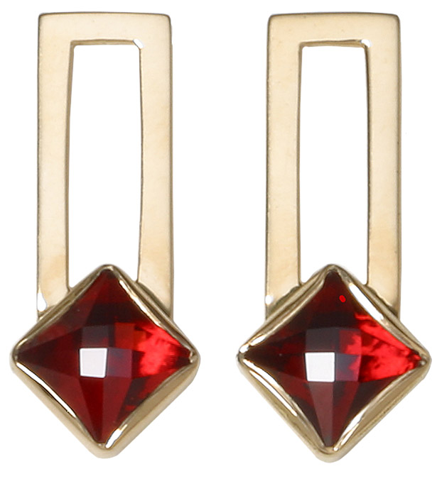 boucles d'oreilles rectangle