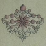 Projet de broche en Grenat de Perpignan, carnet Charpentier, vers 1860.