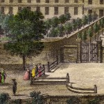 Tiré du Carrère, en 1787 vue de l'école militaire de Perpignan.