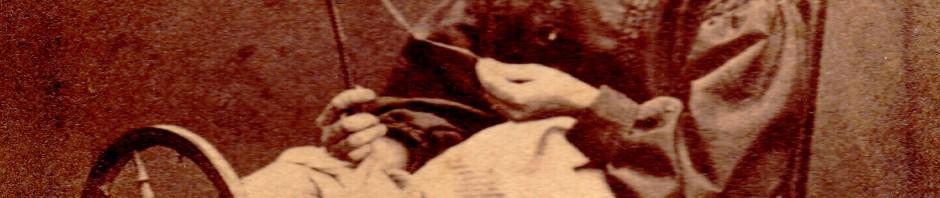 fileuse roussillonnaise, Prades de Conflent, vers 1860.