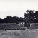Utilisation de wagonets pour deblayer les gravats