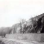 Les remparts au dessous de l'église saint Jacques, Perpignan