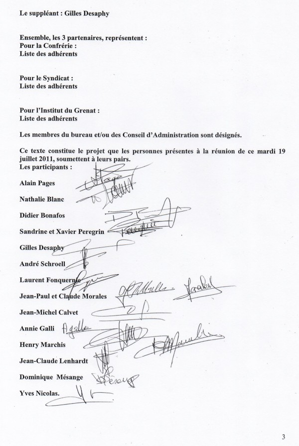 convention page 3 les signatures