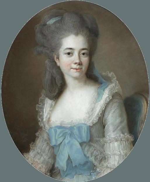 1776, portrait au pastel de Marie-Rose Savalette de Sanlot, née en 1745 (?) à Perpignan.