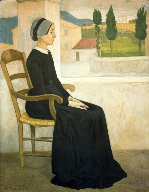 Aristide Maillol (1861-1944) Portrait d'une Catalane, 1885.