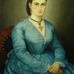 Portrait de femme à la croix normande, vers 1875, ebay.