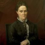 Portrait de femme à la croix poitevine, signé Guerithault, 1880.
