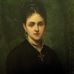 Portrait de Clara Salamo à la croix badine, Paris, 1880, A.Legras.