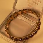 Bracelet en or et Grenats taille Perpignan, vers 1920, col. part. Prades.