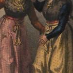 Deux jeunes femmes de Cerdagne, vers 1830.