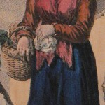 Roussillonnaise en costume local vers 1830.