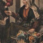 Costume de paysanne roussillonnaise, hortolana, vers 1830.