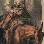 Paysan roussillonnais revenant des champs, vers 1830