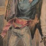 danseur catalan lors du saut roussillonnais, vers 1830.