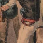 Catalan jouant d'un haubois traditionnel, vers 1830.