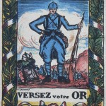 Carte de propagande pour l'emprunt, archives Charpentier, vers 1915.