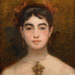 Marie Braquemond, Autoportrait à la croix de Rouen, Musee de Rouen, vers 1880.