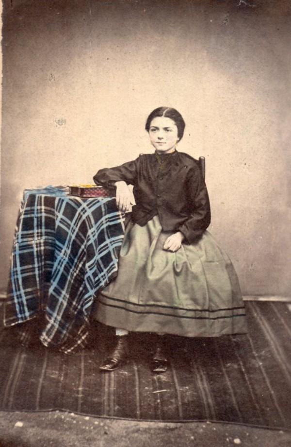 Photographie colorisée, vers 1860, Perpignan.
