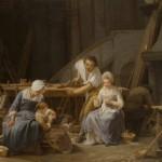 Evocation de la famille Debouches au Soler d'après un tableau de Lepicié