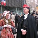Costume de femme Languedocienne (Guingoi) et costume catalan.