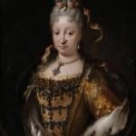 Portrait d'Isabelle de Farnese, reine d'Espagne par Melendez, Musee du Prado.