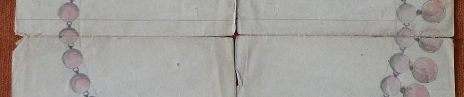Projet de collier, archives Charpentier, Perpignan.