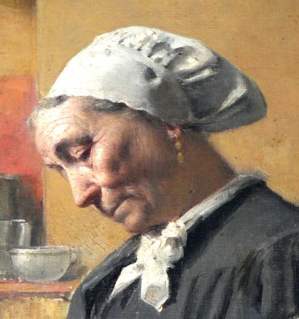 Portrait de Catalane par Louis Delfau.