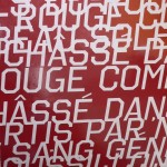 Lettres superposées, Perpignan, nouveau théatre Jean Nouvel.
