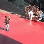 les peintres sur le toit du Grenat -27 sept. 2011.