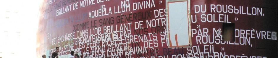 Citations en cours de mise en place sur le Grenat de l'Archipel, Perpignan.