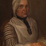 Femme en costume régional XVIIIe s., Sud-Ouest de la France.